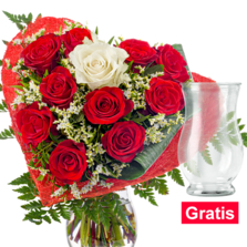 Rosenstrauß Only You mit Vase