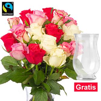 Rosenbund Rosenliebe mit Vase