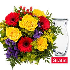 Blumenstrauß Blütenzauber mit Vase
