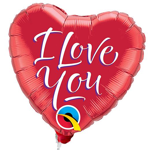 Folienballon Stecker Herz