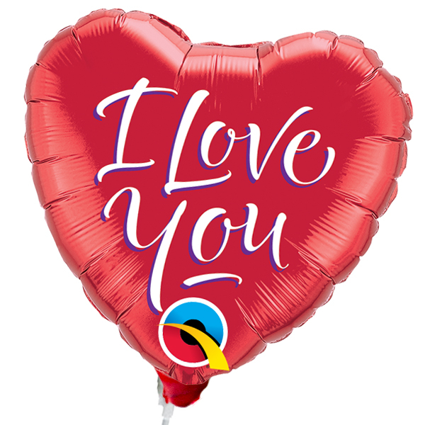 "Folienballon Stecker Herz ""I love You"""