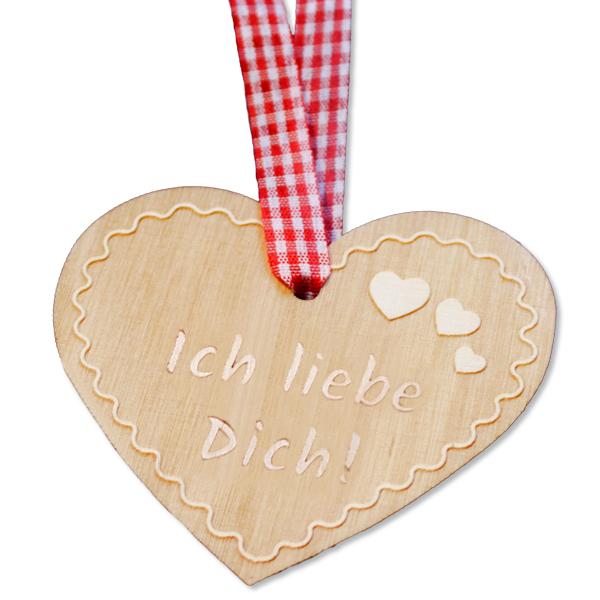 Holzanhänger Herz