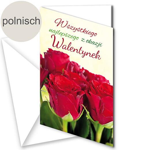 Polnische Motivkarte: Alles Liebe zum Valentinstag