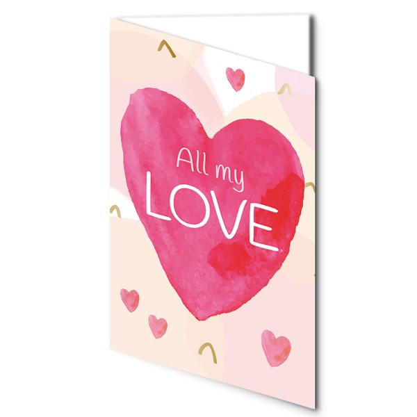 "Motivkarte ""All my Love"""