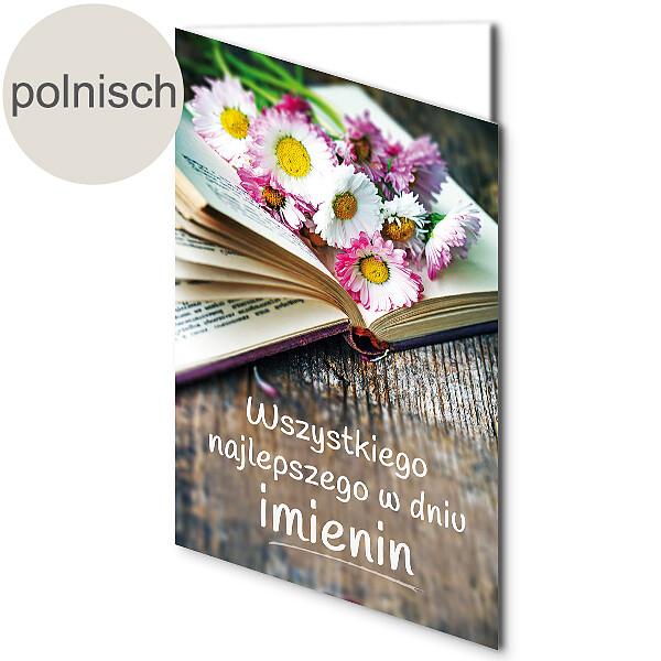 """Polnische Motivkarte: """"Alles Gute zum Namenstag"""""""