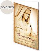 Polnische Motivkarte: Herzlichen Glückwunsch und Gottes Segen!