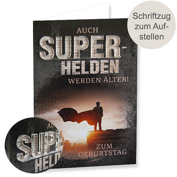 """Motivkarte Geburstag mit Acryl-Schriftzug """"SUPER"""""""