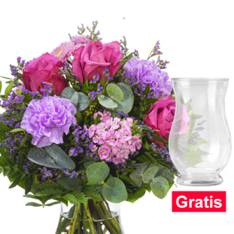Blumenstrauß Sommerabend mit Vase